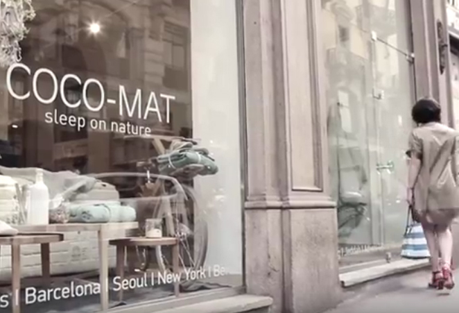 Presentazione showroom COCO-MAT Sleep on nature